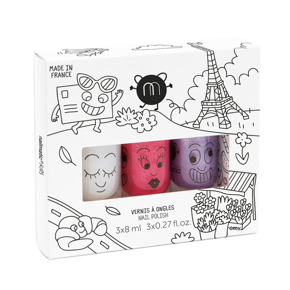 Nailmatic Kids Nail Polish Gift Box (3 Pcs) - Bunnytickles