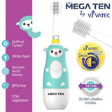 Vivatec Mega Ten Kids Sonic Toothbrush - Bunnytickles