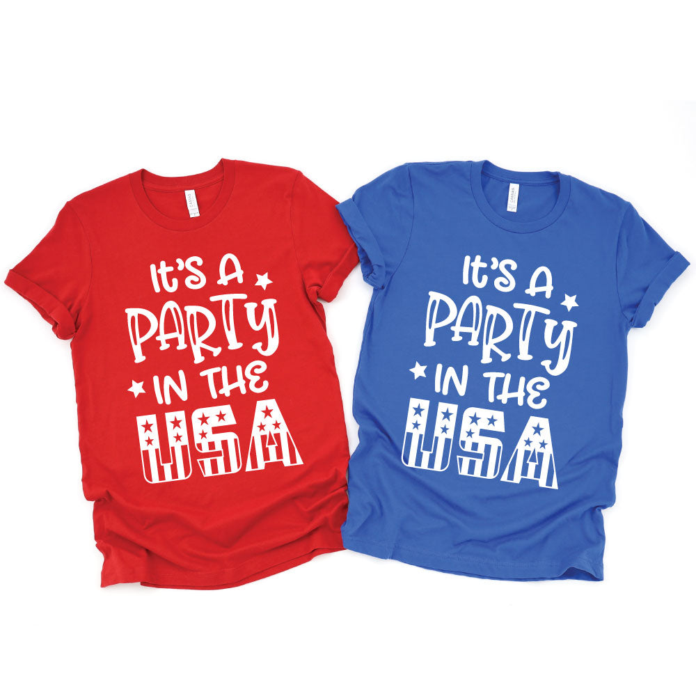 It's a Party in the USA - UNISEX Tee or Tank - West+Mak
