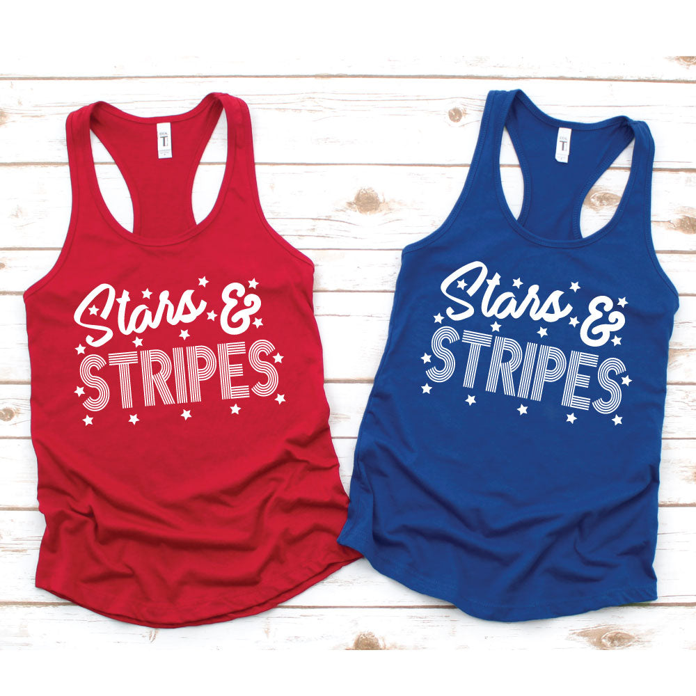 Stars and Stripes - Women's Tank or Unisex Tee - West+Mak