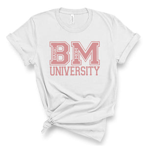 Basic Mom University - Unisex Short Sleeve Tee - West+Mak