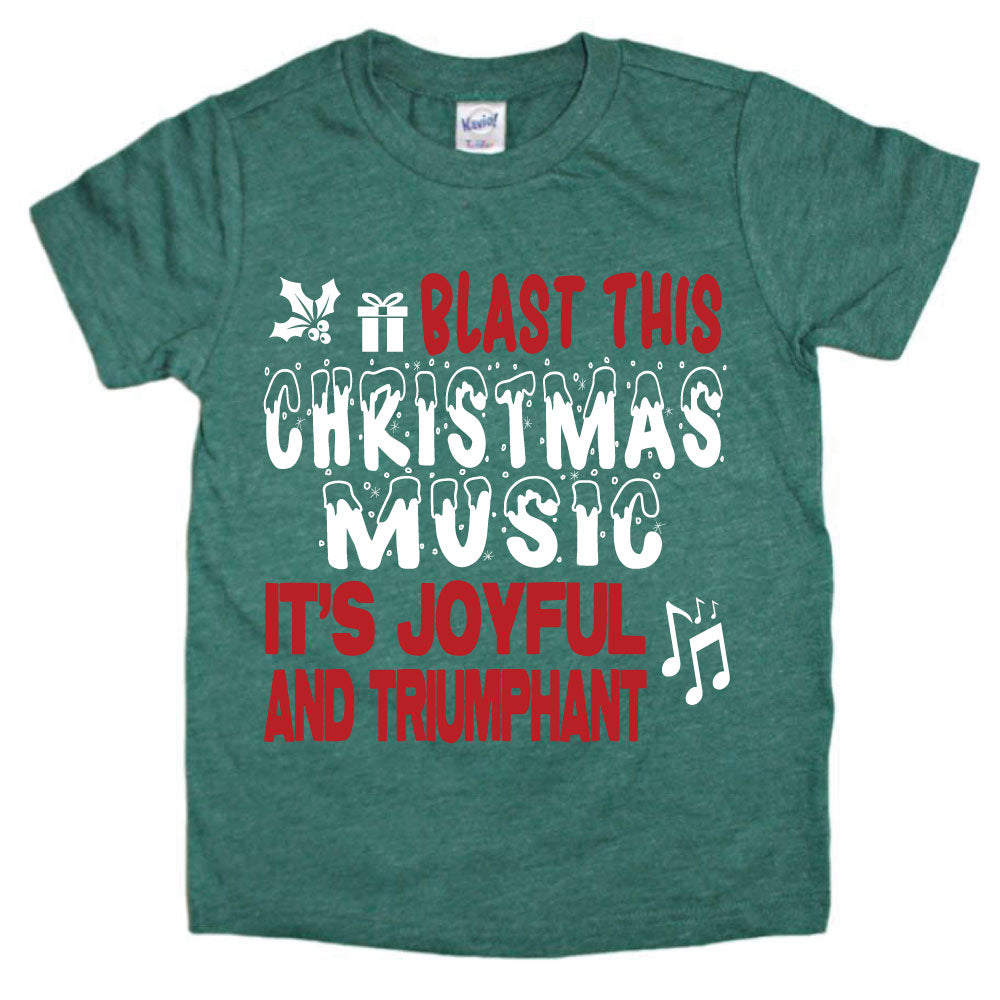 Blast This Christmas Music - Kid's Short/Long Sleeve Tee - West+Mak
