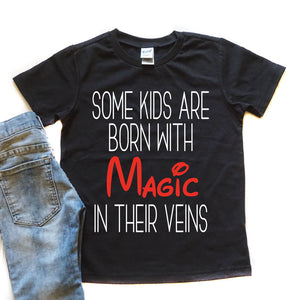 Born with Magic - Kid's Black Tee or Tank - West+Mak