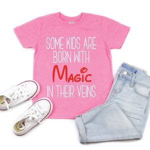 Born with Magic - Kid's Pink Flash Tee or Tank - West+Mak