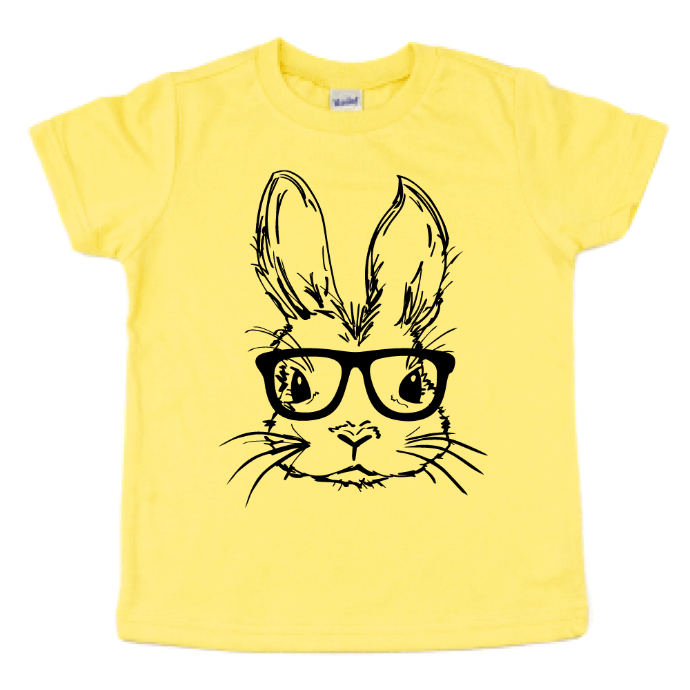 Easter Bunny with Glasses - Kids Pastel Tee - West+Mak