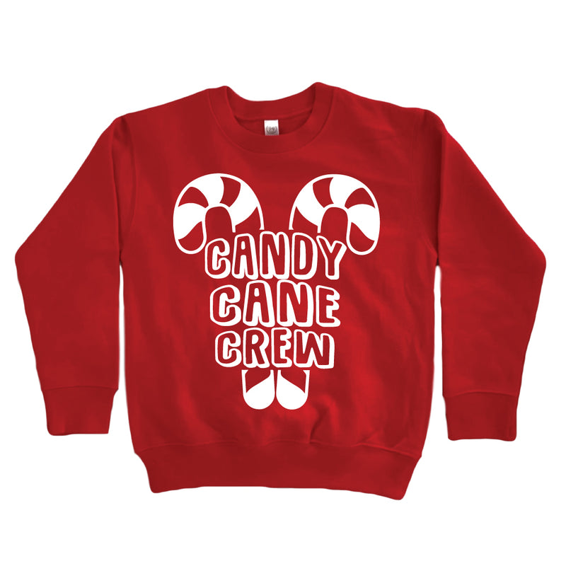Candy Cane Crew - Kid's Red Sweatshirt