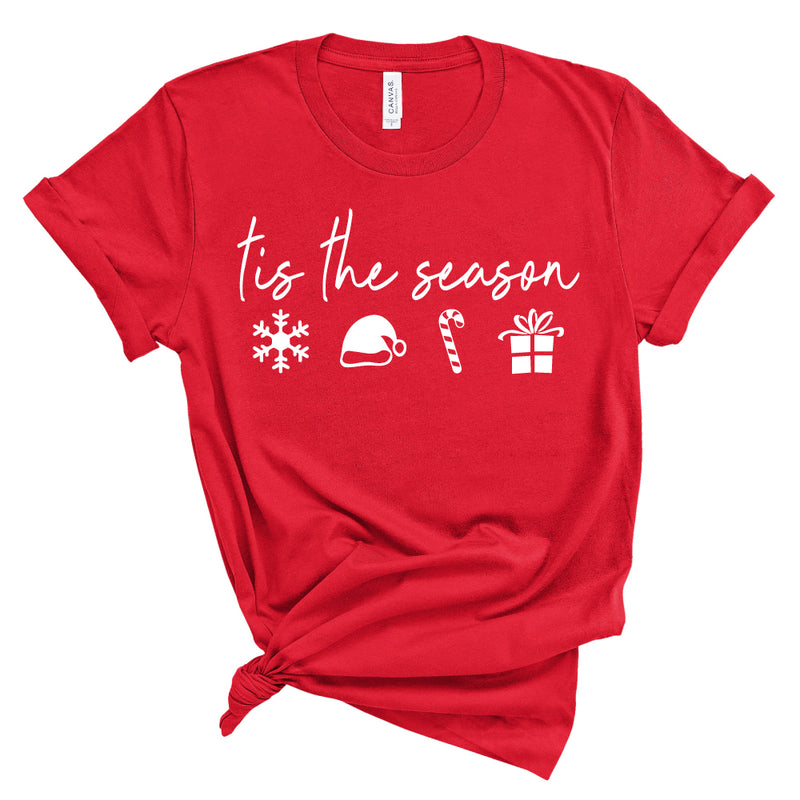 tis the season, holiday icon - Adult Unisex Tee - West+Mak