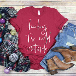 Baby It's Cold Outside - Adult Unisex Short Sleeve Tee - West+Mak