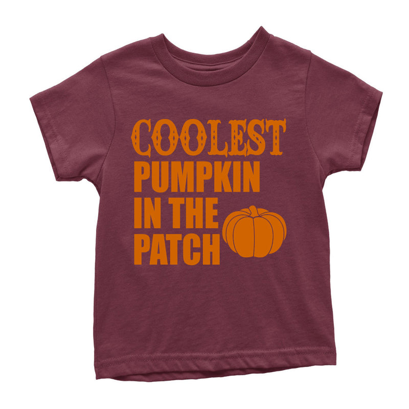 Coolest Pumpkin in the Patch - Kid's Burgundy Tee - West+Mak