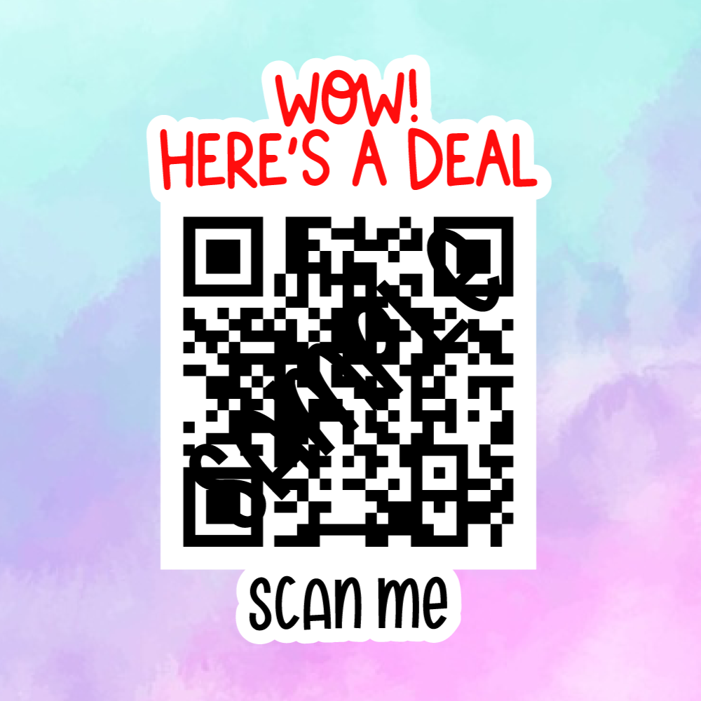 Coupon/Discount QR Code - Sticker Sheet