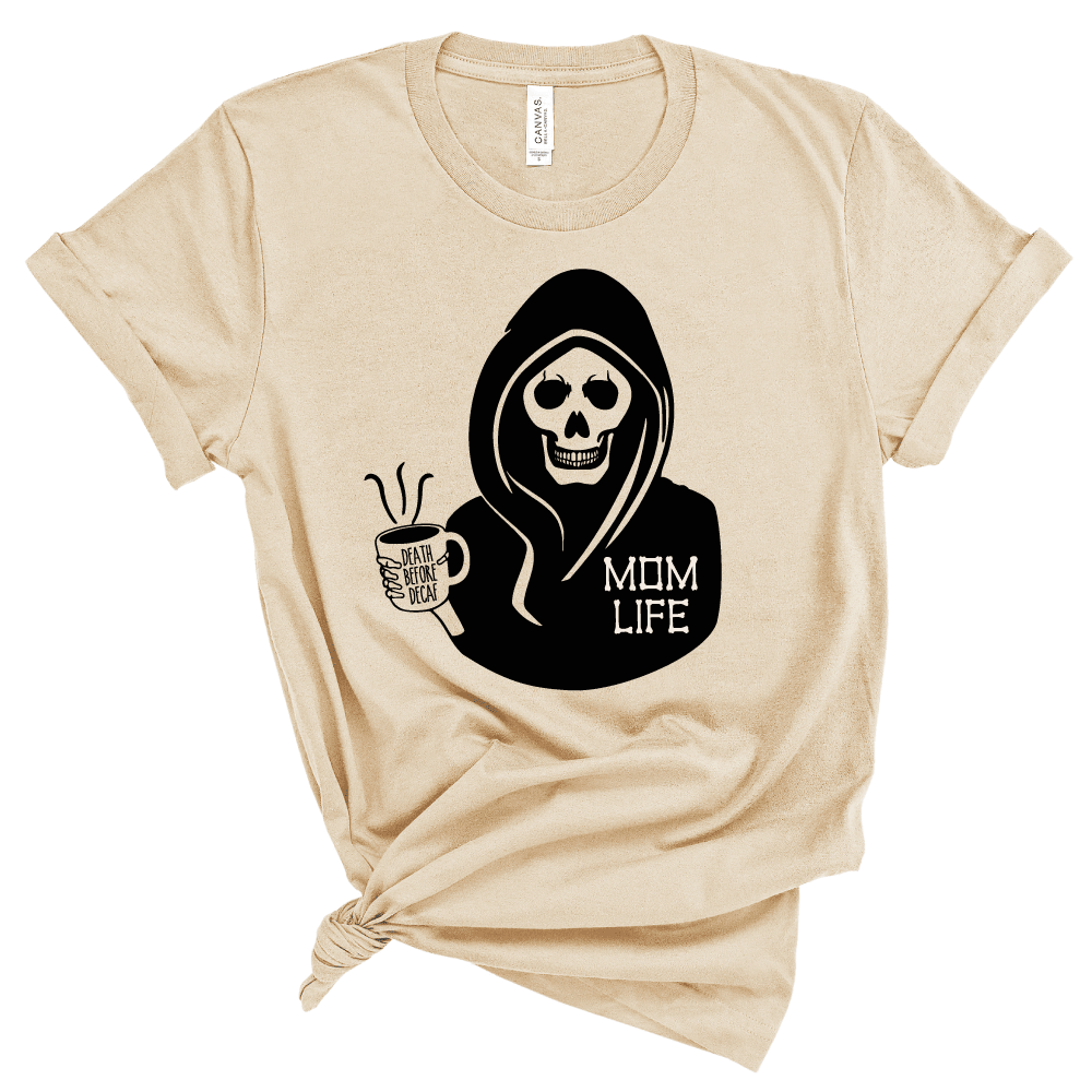 Death Before Decaf - Adult Unisex Tee