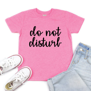 Do Not Disturb (Cursive) - Kids Tee or Tank - West+Mak