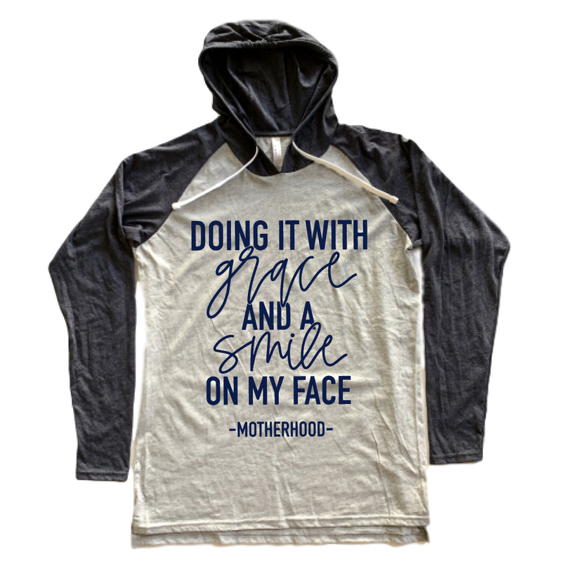 Doing it with Grace and a Smile on my Face - Adult Unisex Lightweight Hoodie - West+Mak