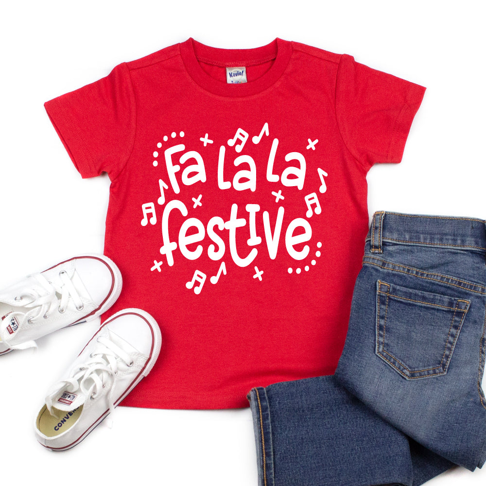 Fa La La Festive - Kid's Short/Long Sleeve Tee