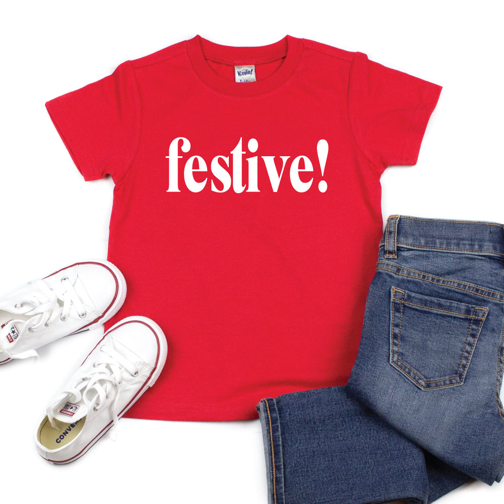 festive! - Kid's Short/Long Sleeve Tee - West+Mak