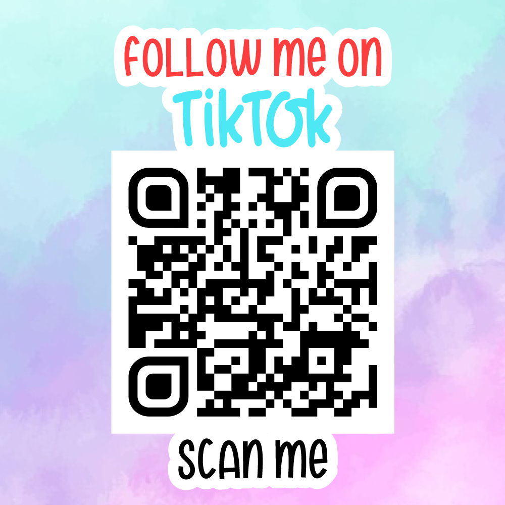 Follow Me On TikTok QR Code - Sticker Sheet