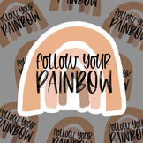 Follow Your Rainbow - 3 sheets (72 stickers)
