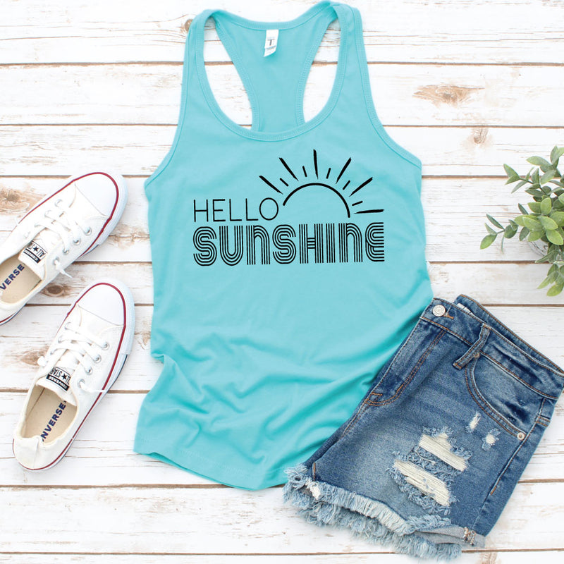 Hello Sunshine - WOMEN'S Heather Grey Tank - West+Mak