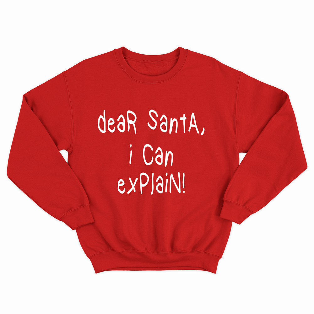 Dear Santa, I Can Explain - Kid's Sweatshirt - West+Mak