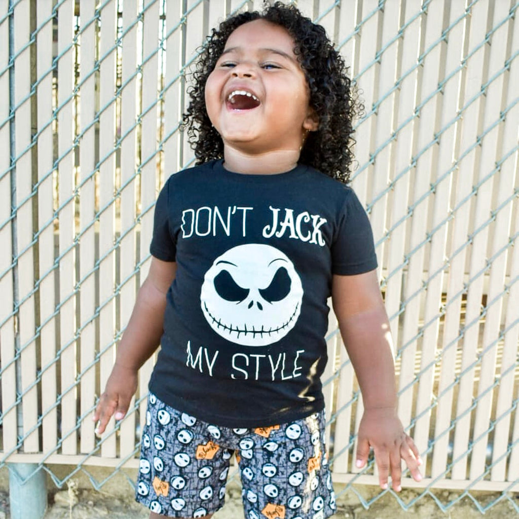 Don't Jack My Style - Kid's Black Tee/Hooded Long Sleeve - West+Mak