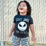 Don't Jack My Style - Kid's Black Tee/Hooded Long Sleeve