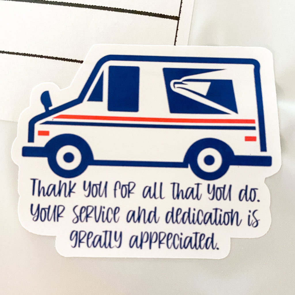 Thank You USPS - Sticker Sheet (15 stickers)