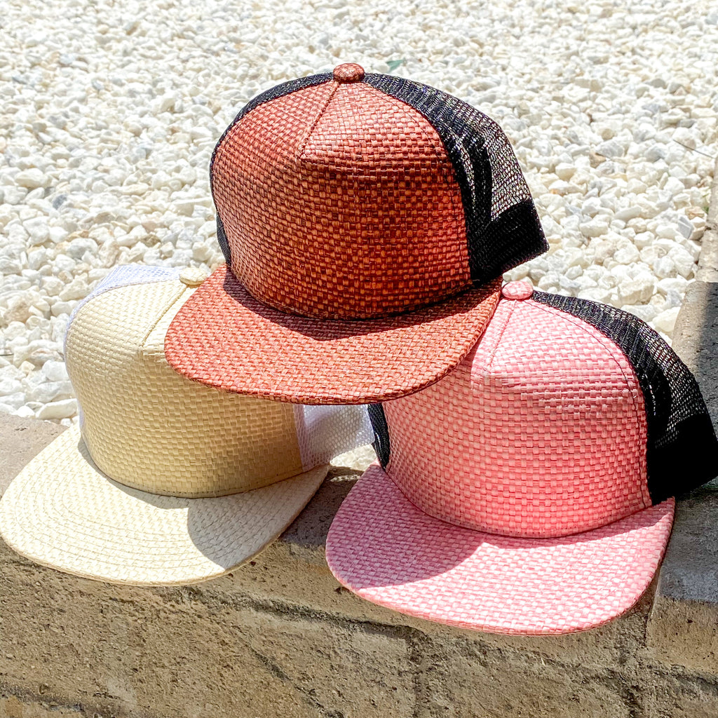 Straw Trucker Hat - Junior and Adult Size