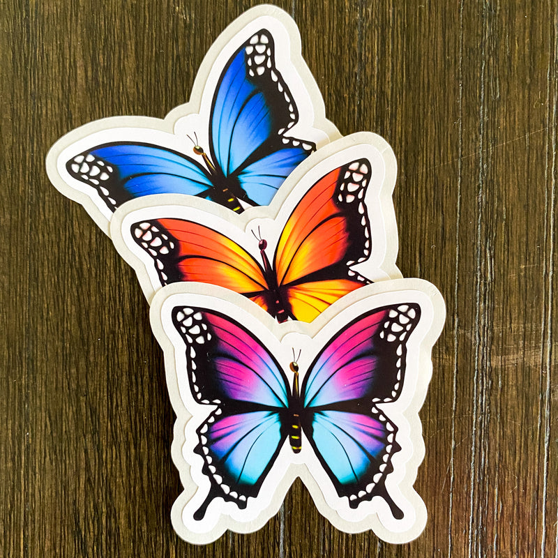 Butterfly Stickers - *Border Cut* 12 Stickers