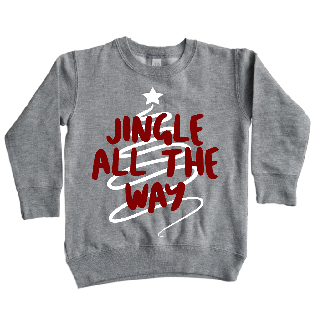 Jingle All the Way Pullover - Kid's Sweatshirt - West+Mak