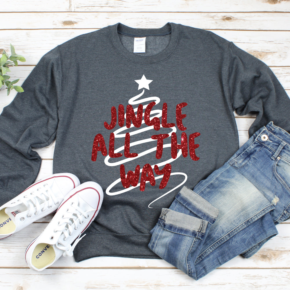Jingle All the Way - Adult Unisex Pullover - West+Mak