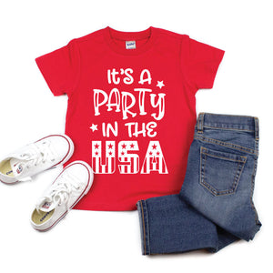 It's a Party in the USA - Kids Tee or Tank - West+Mak