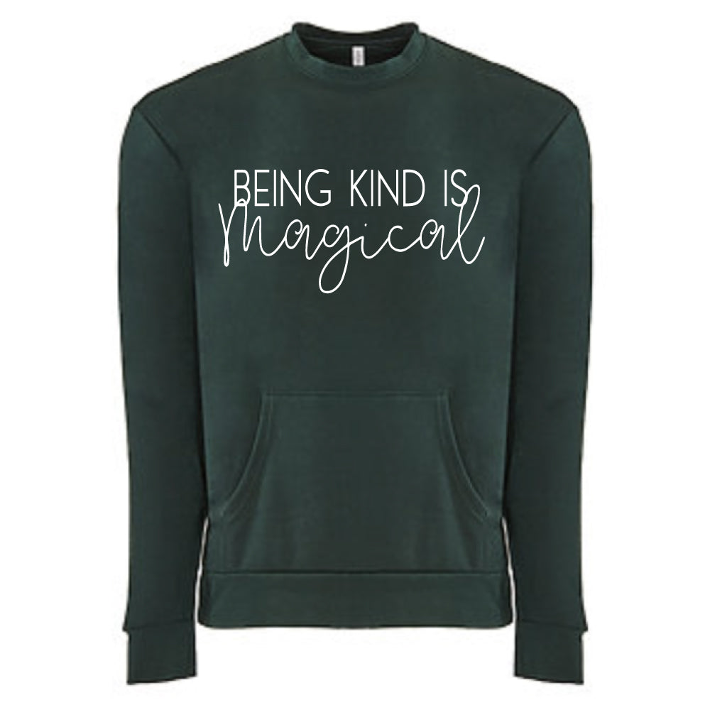 Being Kind is Magical - Adult Unisex Fleece Pocket Pullover
