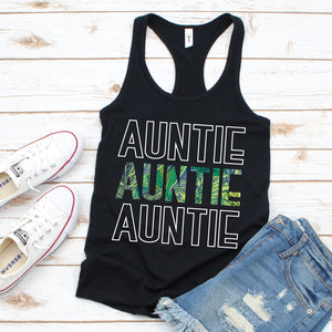 Auntie Leaves - Women's Black Tank - West+Mak