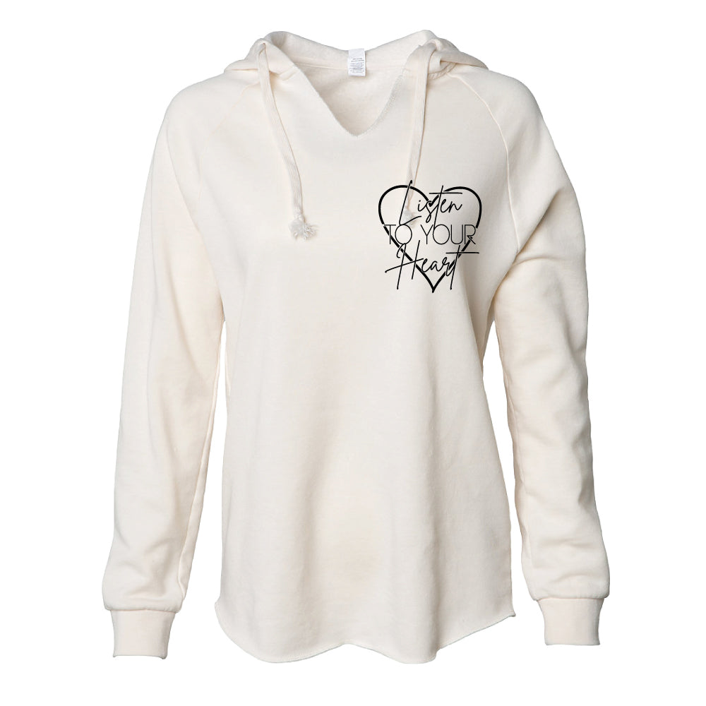 Listen to your Heart - Women's Wave Wash Hooded Pullover