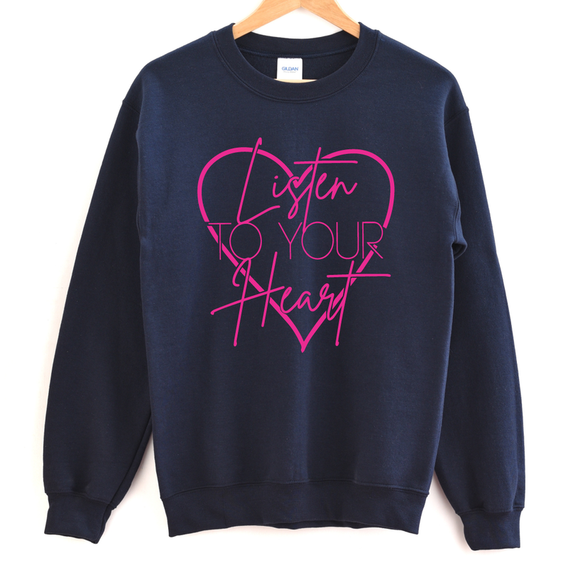 Listen to Your Heart - Adult Unisex Pullover - West+Mak