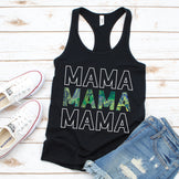 Mama Leaves - Women's Black Tank