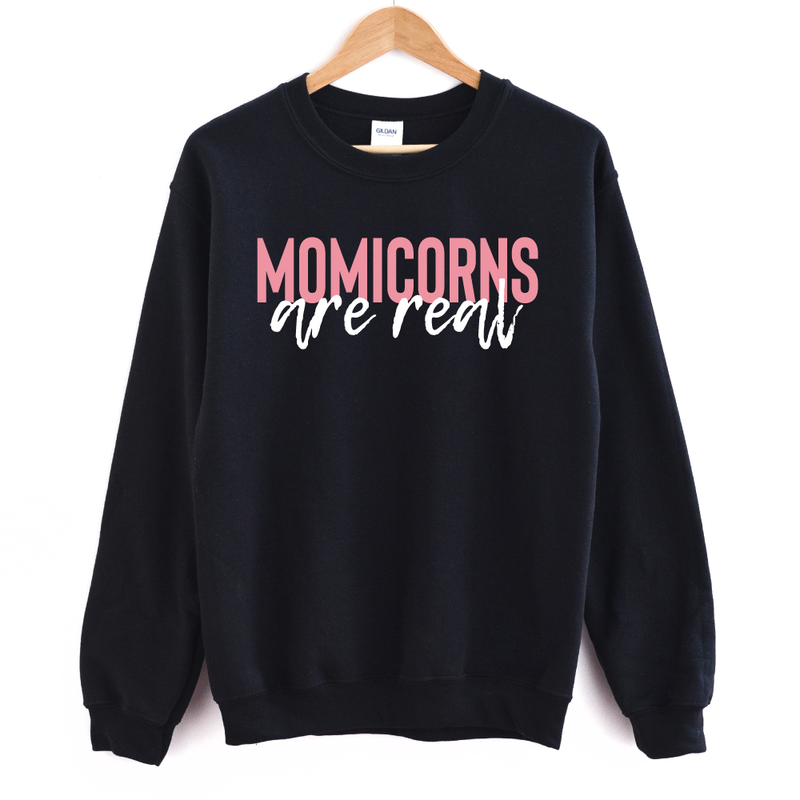 Momicorns Are Real - Adult Unisex Pullover - West+Mak