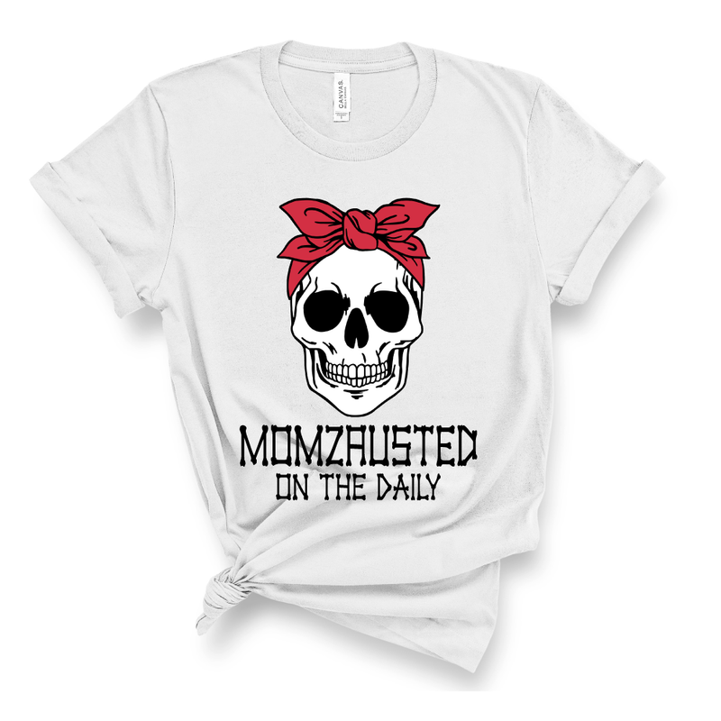 Momzausted on the Daily Skull - Adult Unisex Ash Tee - West+Mak