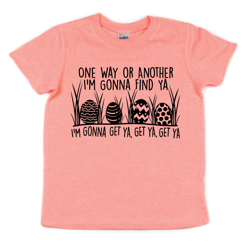 One Way or Another, I'm Gonna Find Ya - Kids Pastel Tee - West+Mak