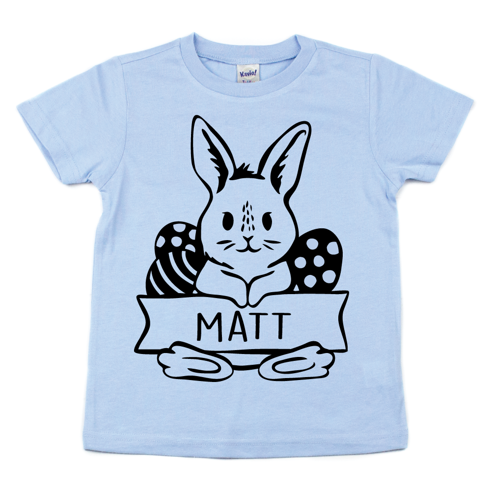 Personalized Bunny - Kids Pastel Tee - West+Mak