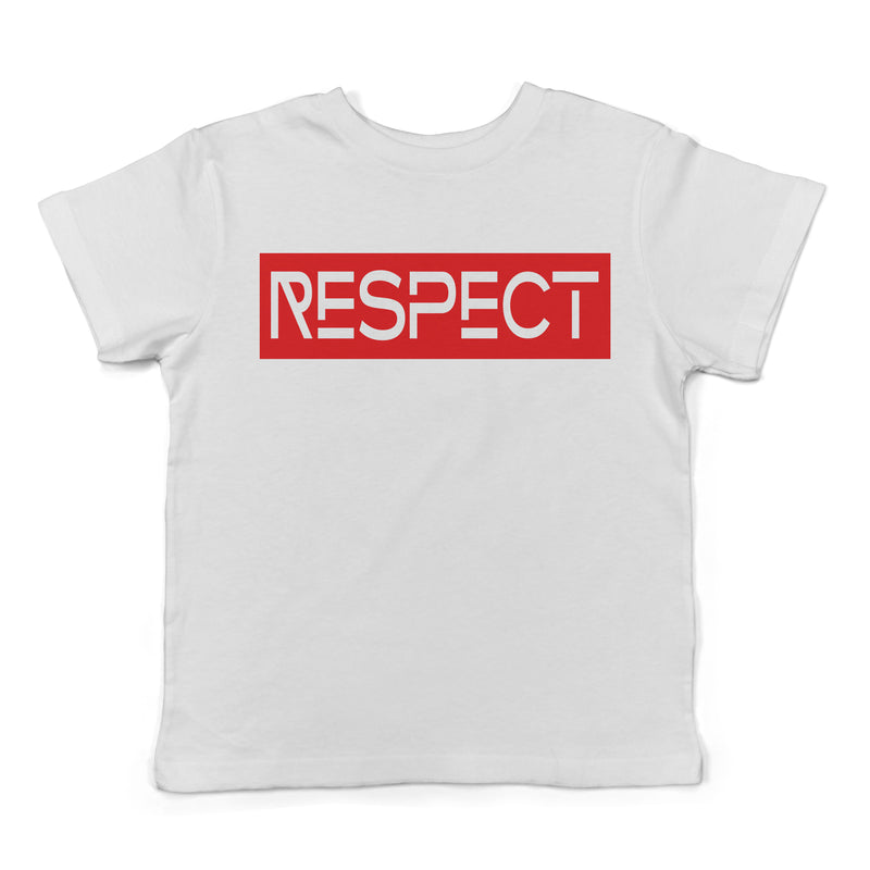 Respect - Kid's White Tee - West+Mak