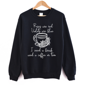 Roses Are Red Violets Are Blue - Adult Unisex Pullover - West+Mak