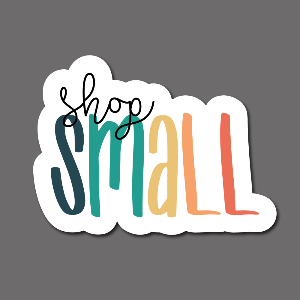 Shop Small (Colorful) - Sticker Sheet
