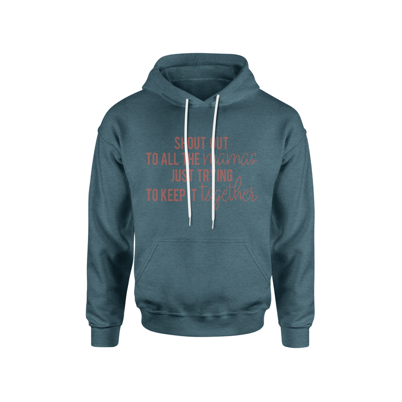 Shout Out to All the Mamas - Unisex Heather Slate Pullover Hoodie - West+Mak