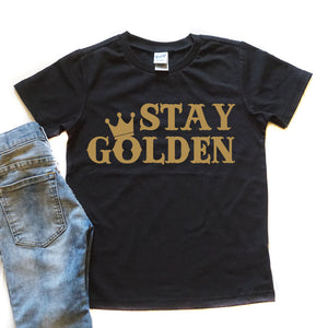 Stay Golden Old Font - Kid's Tee - West+Mak