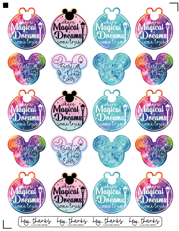 Magical Stickers - Sticker Sheet (3 Sheets)