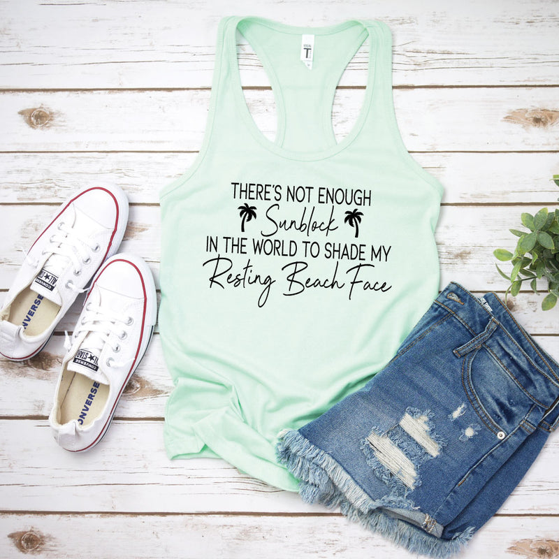 Resting Beach Face - WOMEN'S Mint Tank - West+Mak