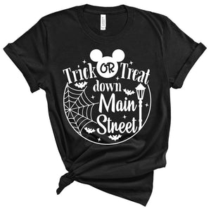 *ADULT* Trick or Treat Down Main Street - Unisex Tee/Pullover - West+Mak