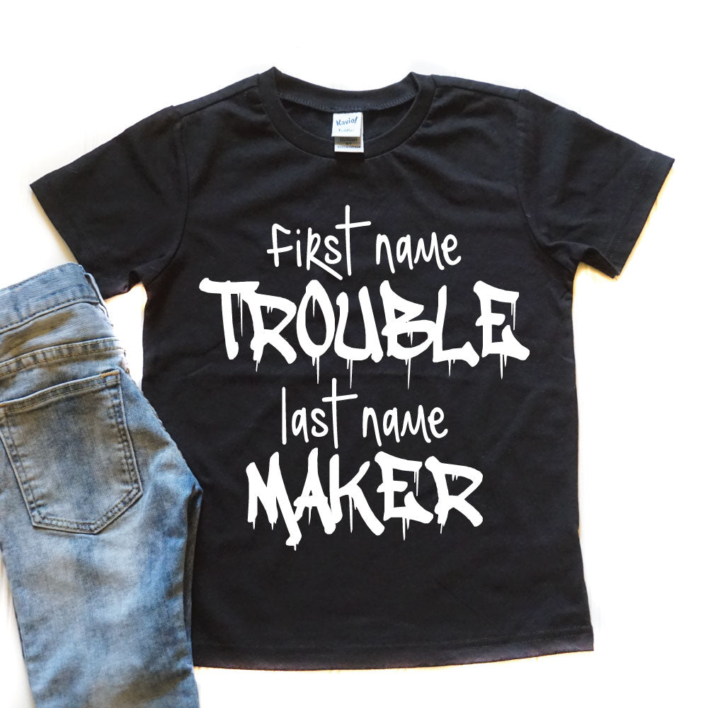 Trouble Maker Children's Shirt - West+Mak
