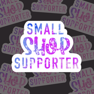 Small Shop Supporter (Blue/Purple) - Sticker Sheets (3 sheets)